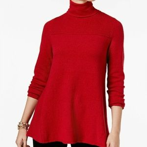 Style & Co Petite Turtle Neck Tunic Sweater, PS